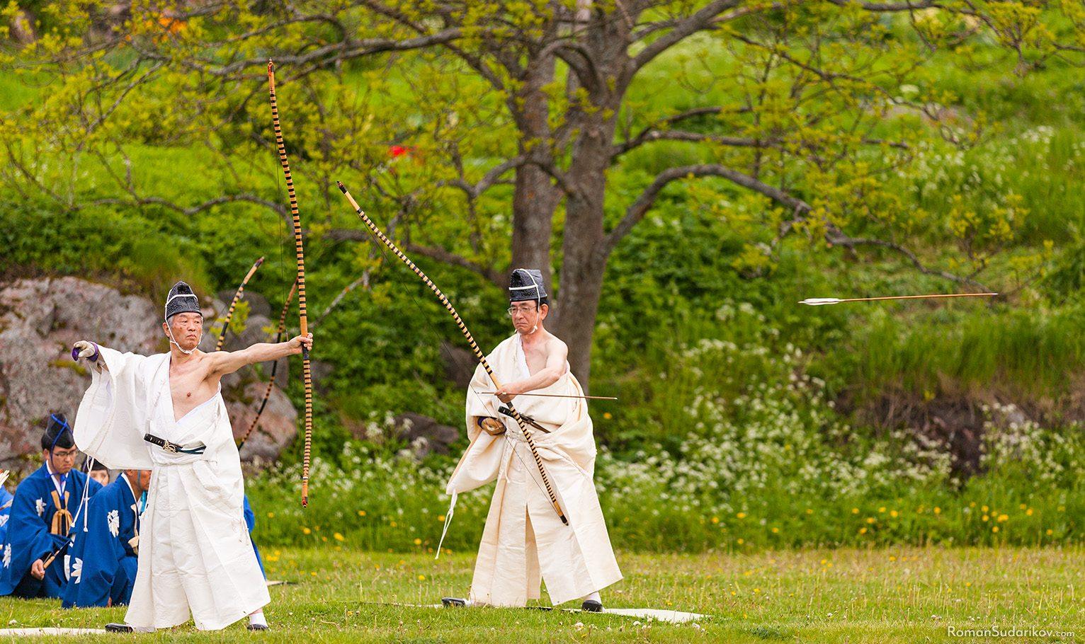Оматошики, японский ритуал стрельбы из лука, Финляндия