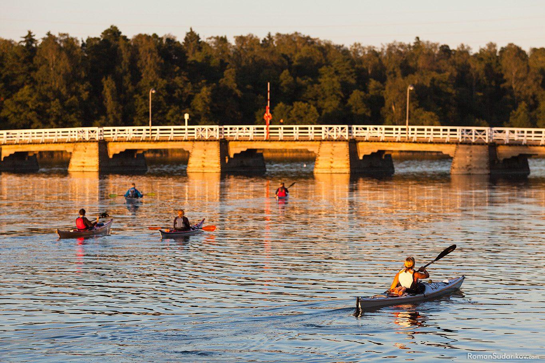 Kayaks in Seurasaari, Helsinki, Finland