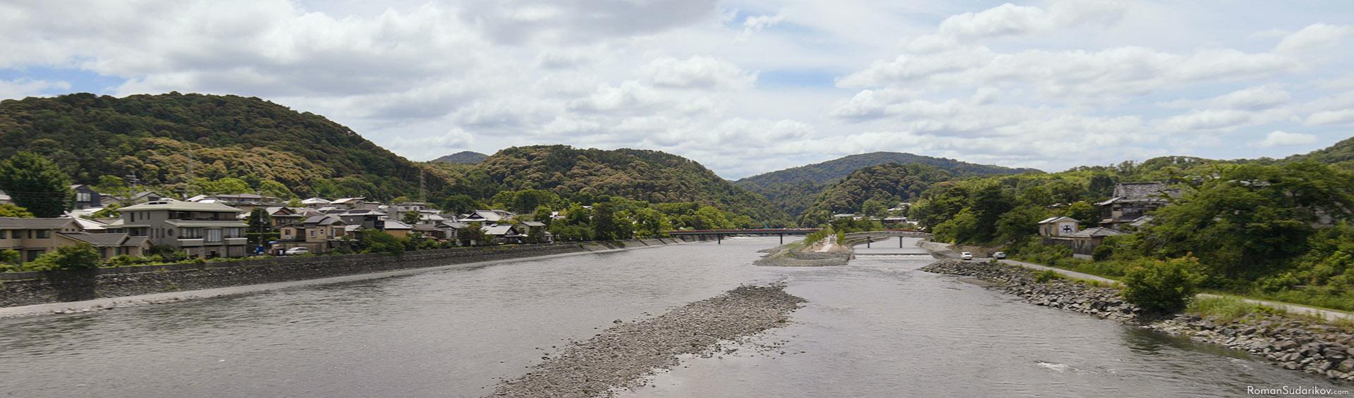 A beautiful view of the river from Uji Bridge