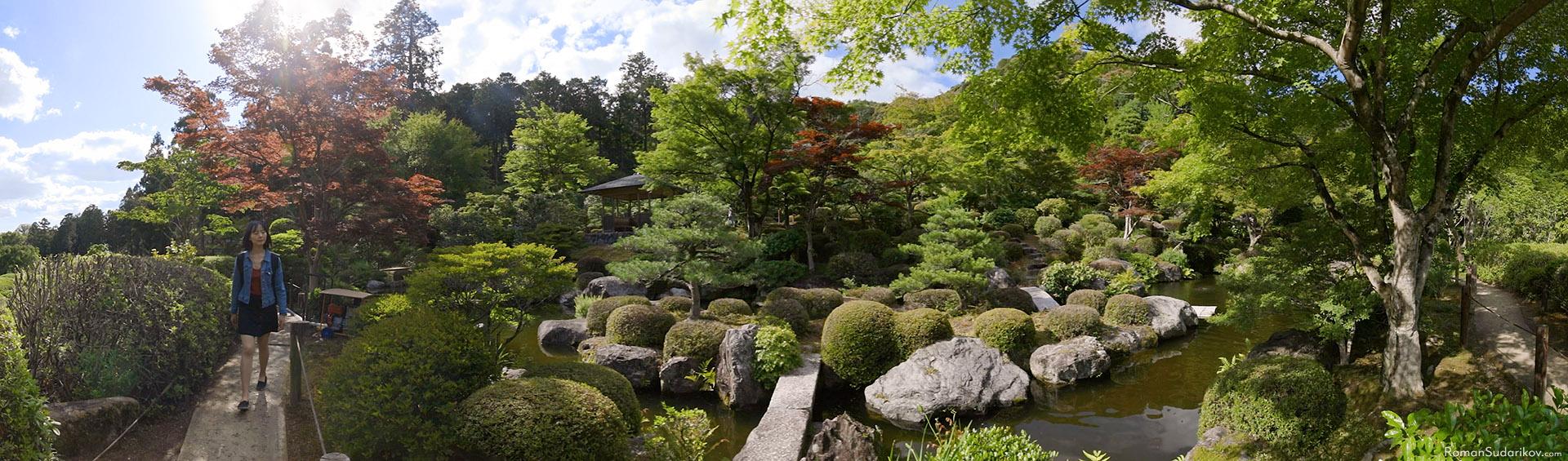 Japanese garden at Mimurotoji Temple in Uji
